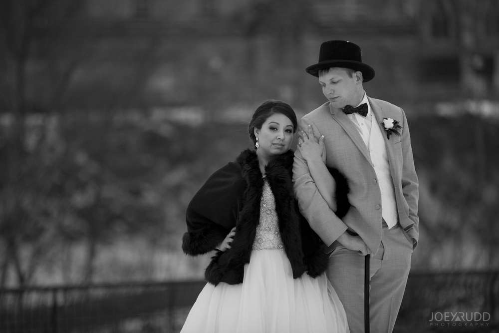 Bride and Groom Winter Ottawa Photography