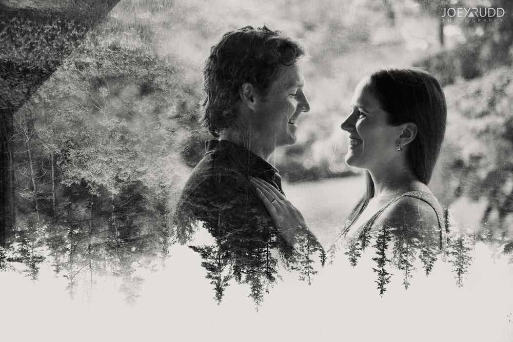 Double Exposure Photo by Joey Rudd Photography Award Winning Ottawa Wedding Photographer Engagement Almonte