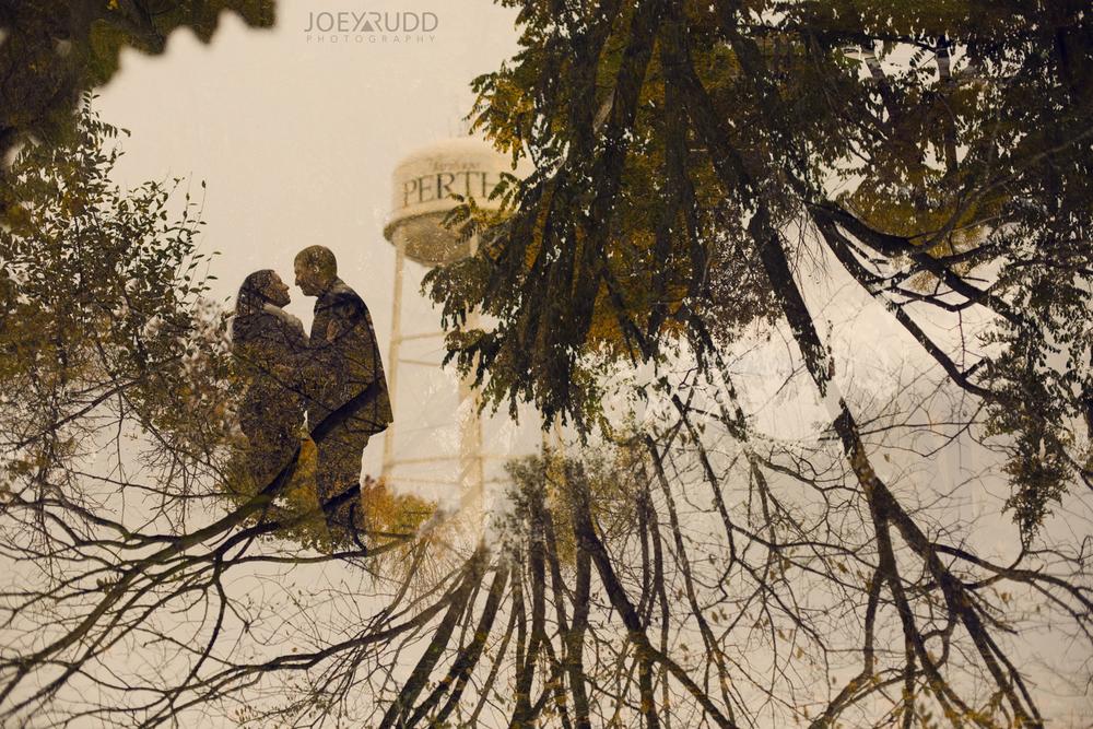 Double Exposure Photo by Joey Rudd Photography Award Winning Ottawa Wedding Photographer Engagement Perth Stewart Park