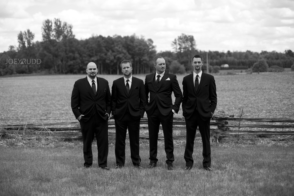 Kemptville Wedding by Ottawa Wedding Photographer Joey Rudd Photography Groomsmen