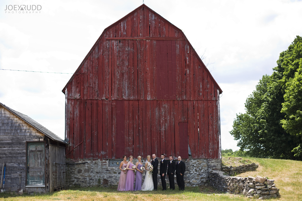 Kemptville Wedding by Ottawa Wedding Photographer Joey Rudd Photography Barn Wedding Party