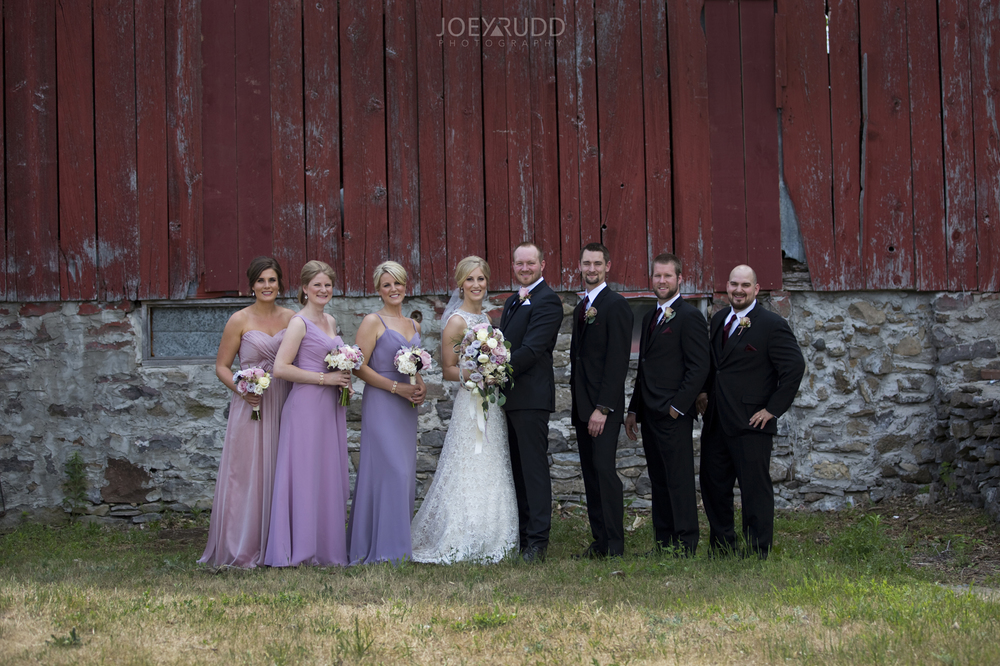 Kemptville Wedding by Ottawa Wedding Photographer Joey Rudd Photography Wedding Party Rustic Barn