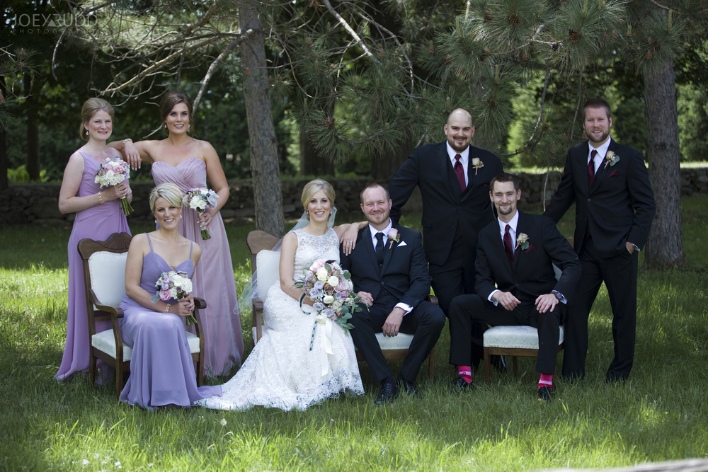 Kemptville Wedding by Ottawa Wedding Photographer Joey Rudd Photography Wedding Party Antique Chairs