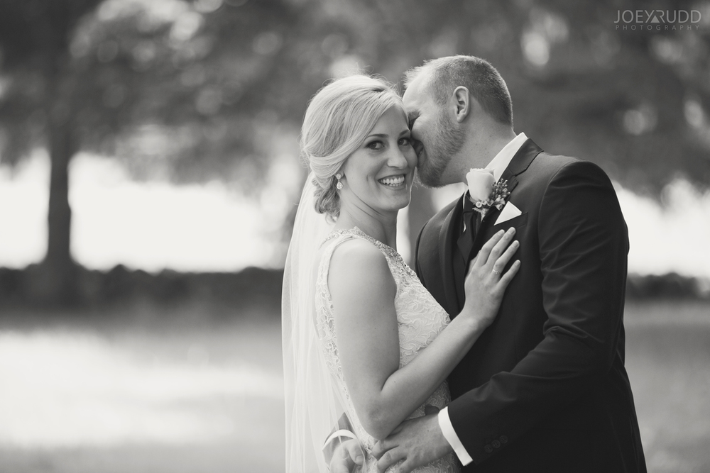 Kemptville Wedding by Ottawa Wedding Photographer Joey Rudd Photography Bride & Groom Black and White