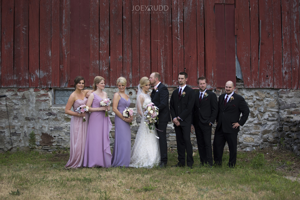 Kemptville Wedding by Ottawa Wedding Photographer Joey Rudd Photography Wedding Party Barn Photo