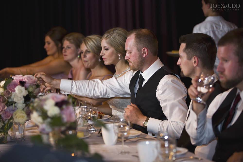 Kemptville Wedding by Ottawa Wedding Photographer Joey Rudd Photography Century Wedding and Events Head Table Groom