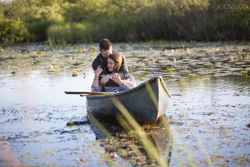 Rustic Engagement by Ottawa Wedding Photographer Joey Rudd Photography Canoe