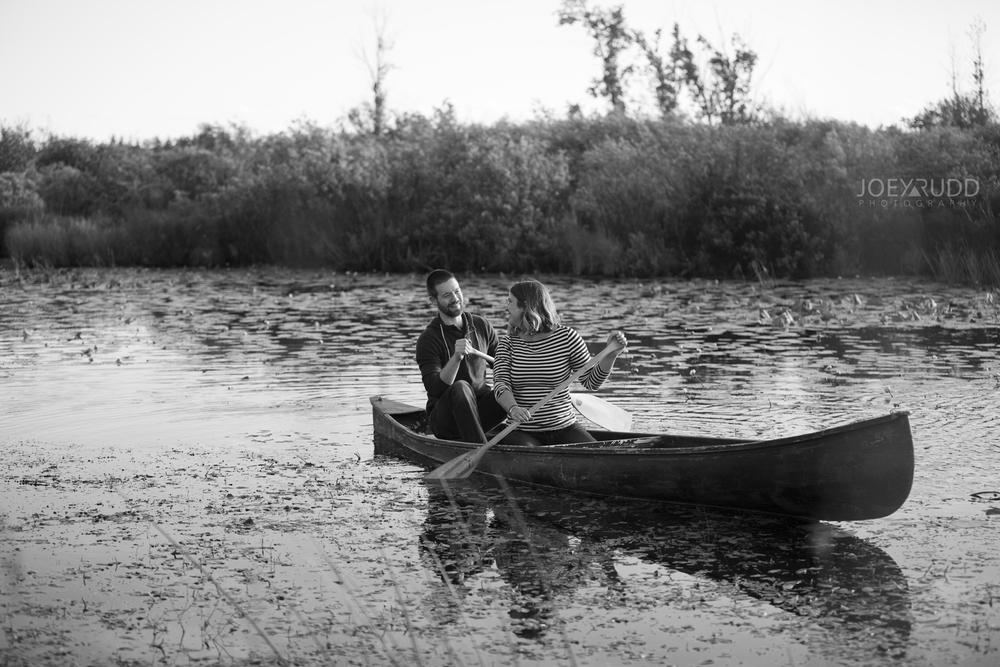 Rustic Engagement by Ottawa Wedding Photographer Joey Rudd Photography Canoe Nature Lanark