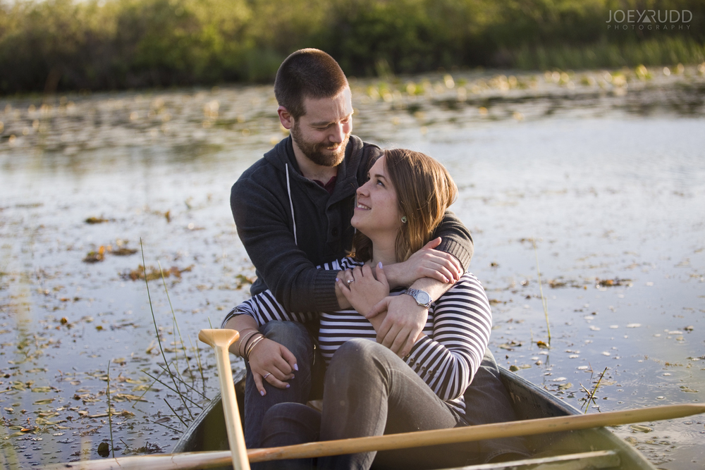 Rustic Engagement by Ottawa Wedding Photographer Joey Rudd Photography Canoe Candid