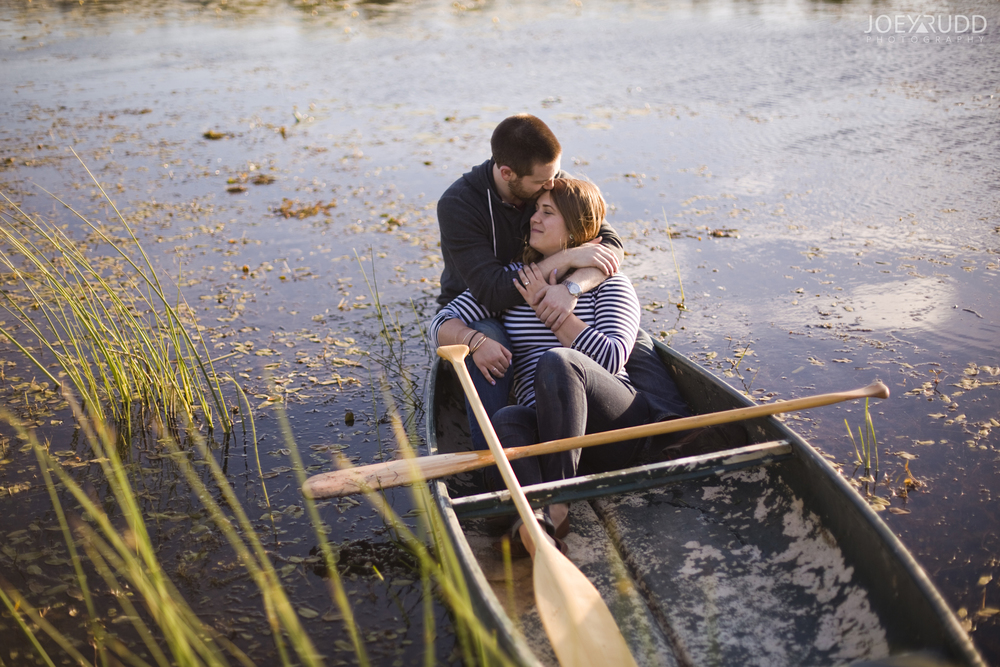 Rustic Engagement by Ottawa Wedding Photographer Joey Rudd Photography Canoe Love