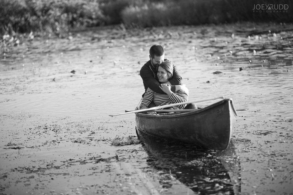 Rustic Engagement by Ottawa Wedding Photographer Joey Rudd Photography Canoeing Engaged
