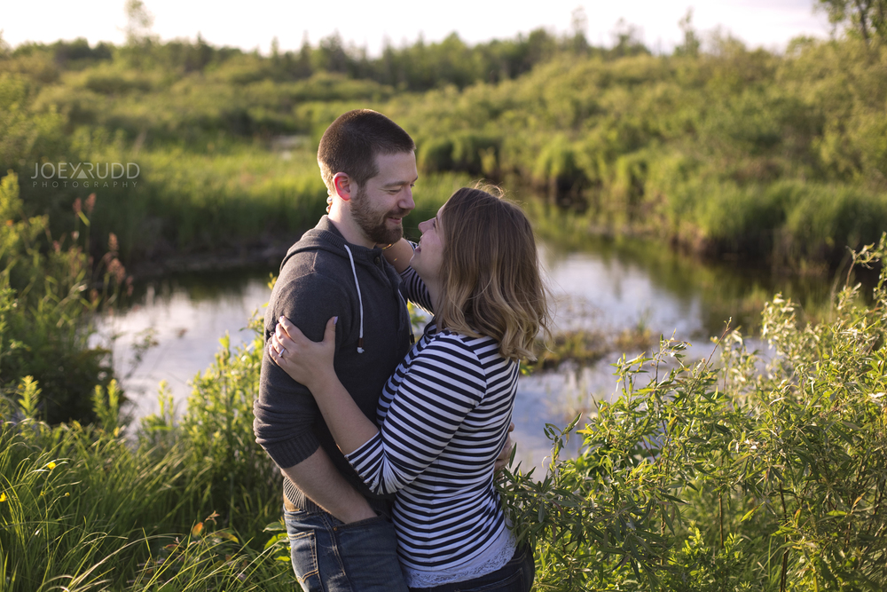 Rustic Engagement by Ottawa Wedding Photographer Joey Rudd Photography Creek