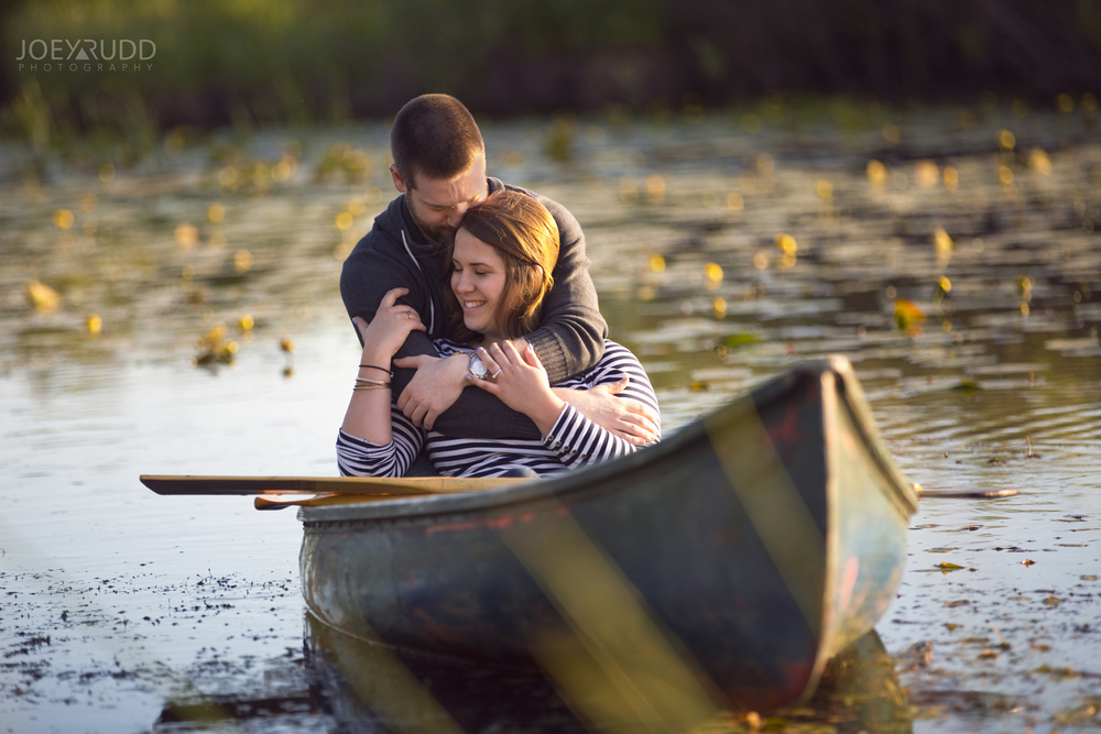 Rustic Engagement by Ottawa Wedding Photographer Joey Rudd Photography Canoe Engagement