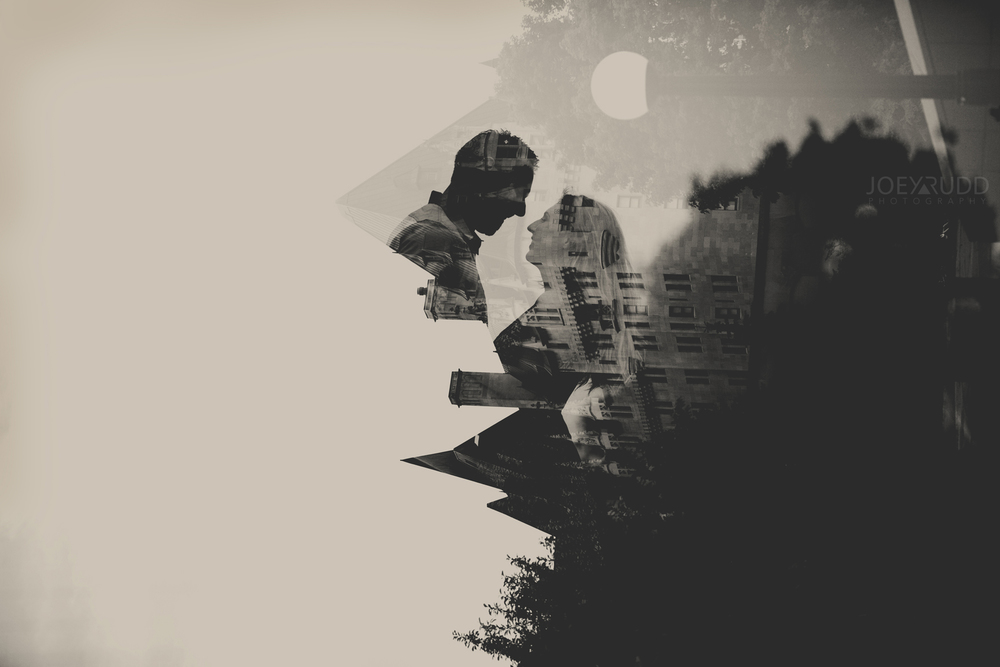Joey Rudd Photography Ottawa Wedding Photographer Engagement Double Exposure