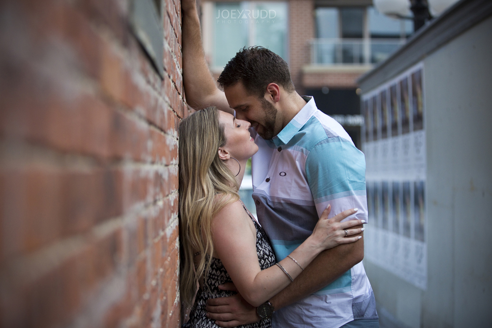Joey Rudd Photography Ottawa Wedding Photographer Engagement Downtown Kissing Photo