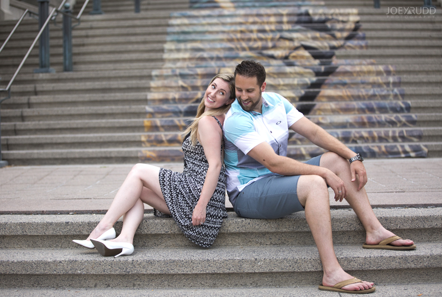 Joey Rudd Photography Ottawa Wedding Photographer Engagement Steps Market