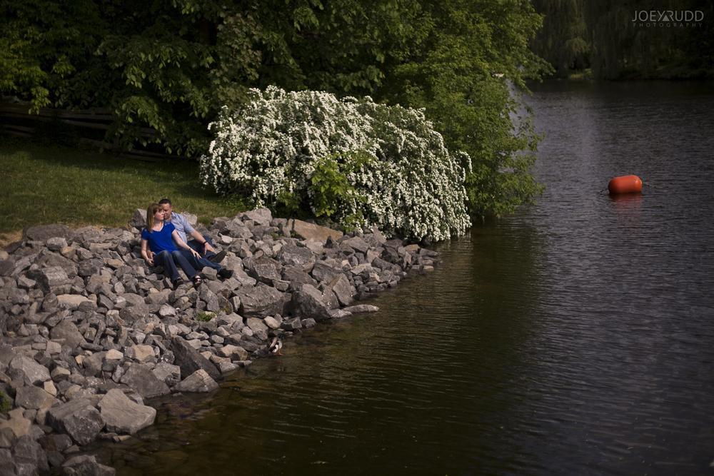 Manotick Engagement by Ottawa Wedding Photographer Joey Rudd Photography at Watsons Mill Water Rocks