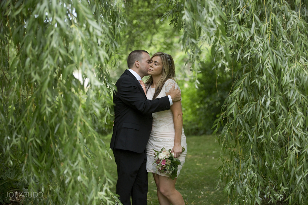 Elopement Wedding by Ottawa Wedding Photographer Joey Rudd Photography Arboretum Weeping Willows Nature