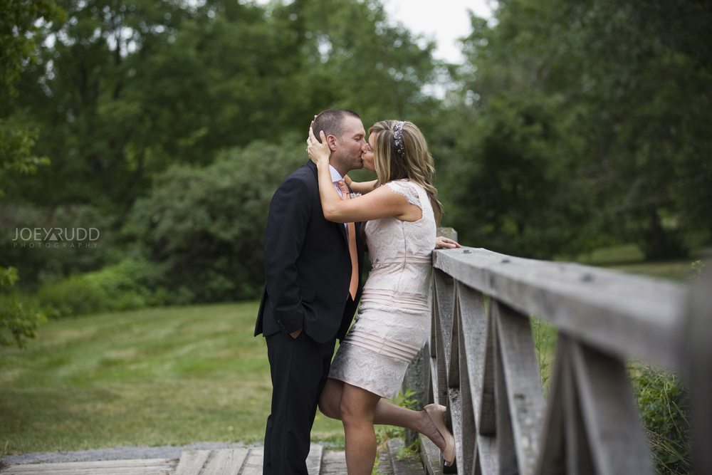 Elopement Wedding by Ottawa Wedding Photographer Joey Rudd Photography Arboretum Bridge Couple
