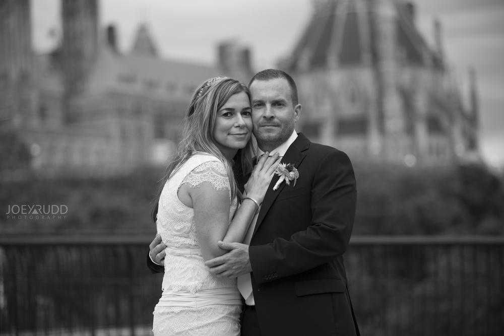 Elopement Wedding by Ottawa Wedding Photographer Joey Rudd Photography Majors Hill Black and White