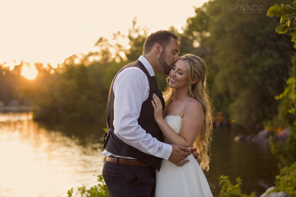 Calabogie Wedding at Barnet Park by Ottawa Wedding Photographer Joey Rudd Photography Sunset Photo