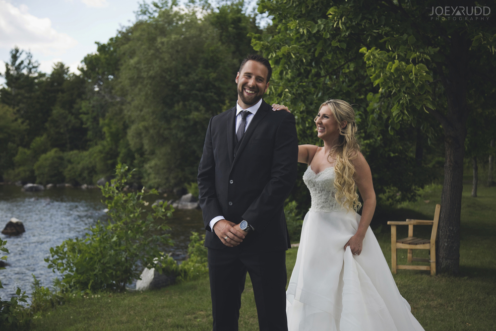 Calabogie Wedding at Barnet Park by Ottawa Wedding Photographer Joey Rudd Photography First Look