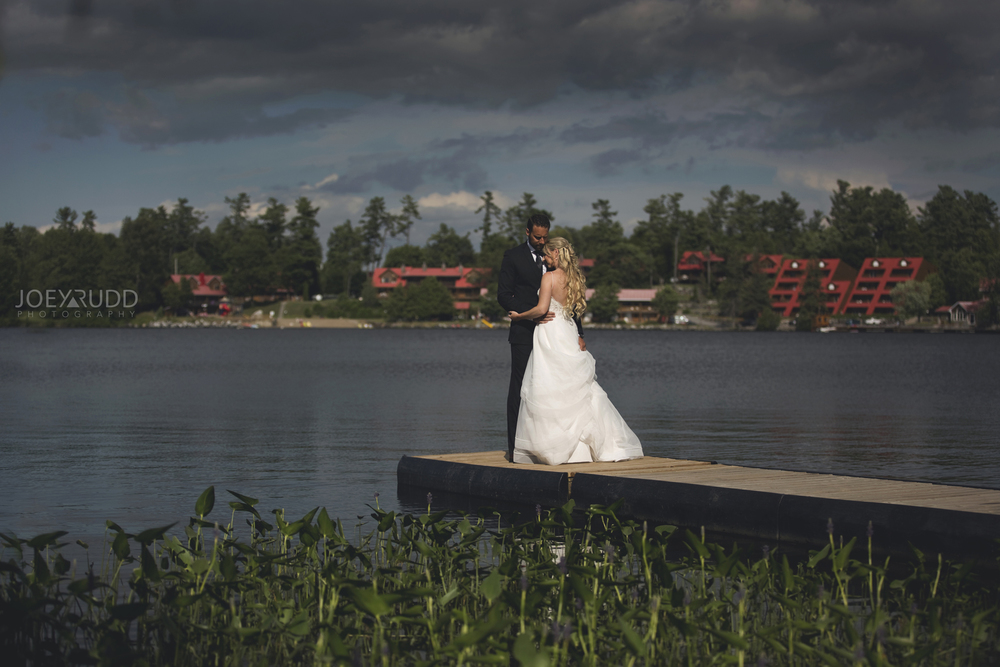 Calabogie Wedding at Barnet Park by Ottawa Wedding Photographer Joey Rudd Photography Lakeside Dock Photo