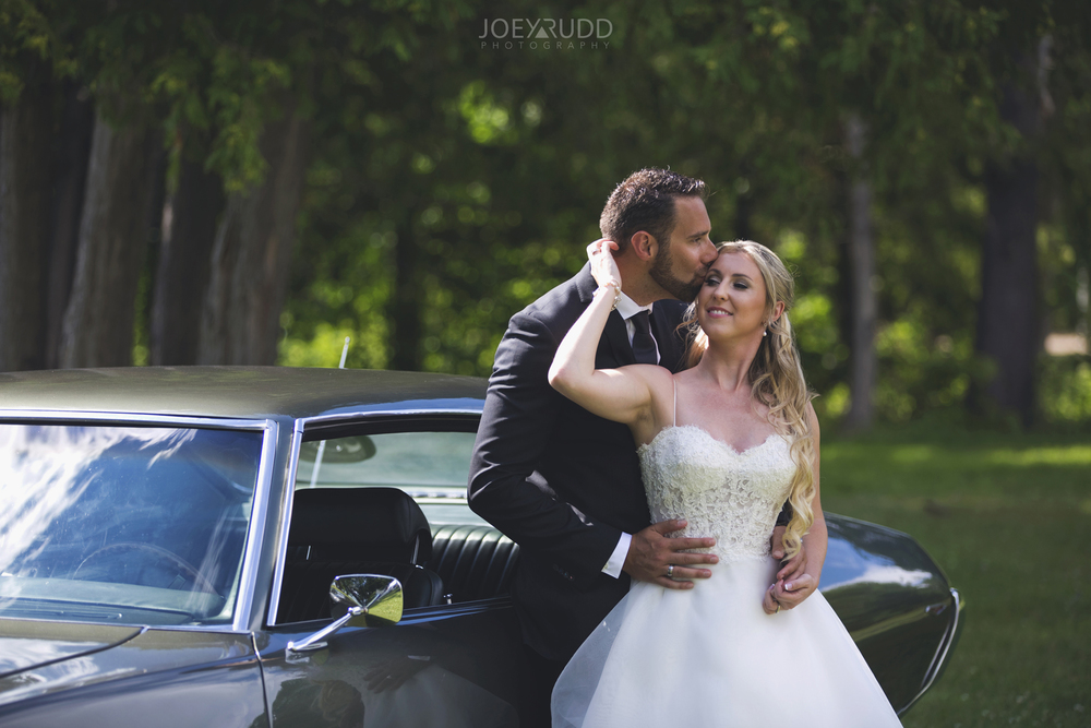 Calabogie Wedding at Barnet Park by Ottawa Wedding Photographer Joey Rudd Photography Old Car