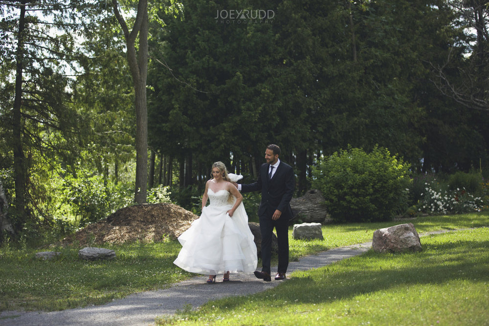 Calabogie Wedding at Barnet Park by Ottawa Wedding Photographer Joey Rudd Photography Walking