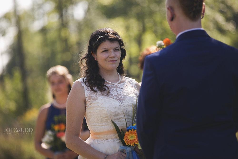 Backyard Kingston Wedding by Ottawa Wedding Photographer Joey Rudd Photography Ceremony Bridal