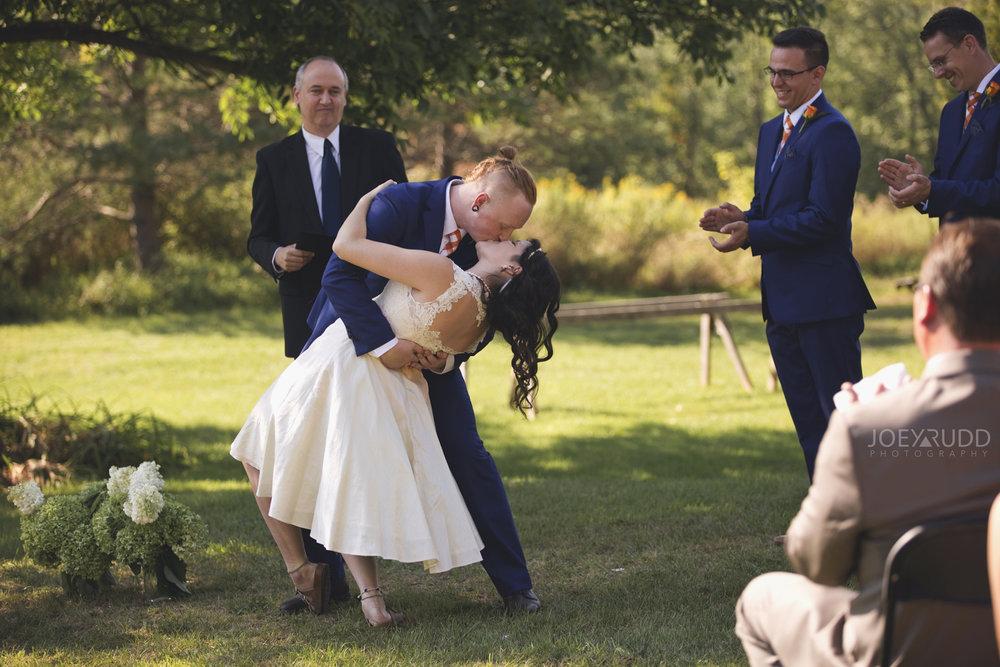 Backyard Kingston Wedding by Ottawa Wedding Photographer Joey Rudd Photography Kiss