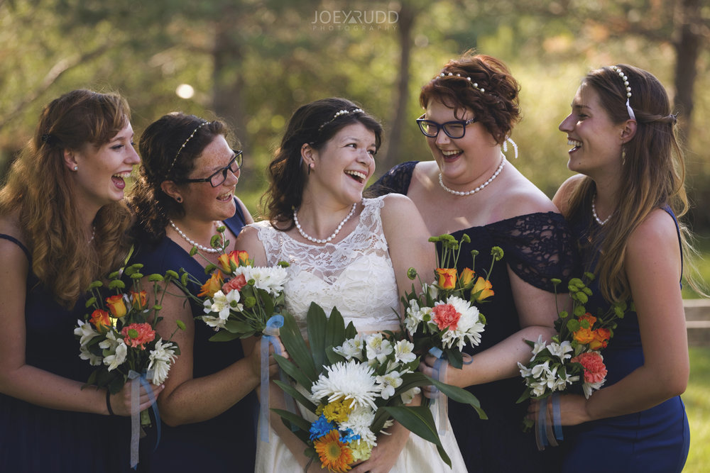 Backyard Kingston Wedding by Ottawa Wedding Photographer Joey Rudd Photography Bridal Party Bridesmaids Photo Idea