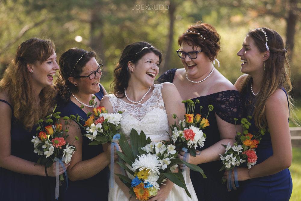 Backyard Kingston Wedding by Ottawa Wedding Photographer Joey Rudd Photography Bridal Party Bridesmaids Photo Idea