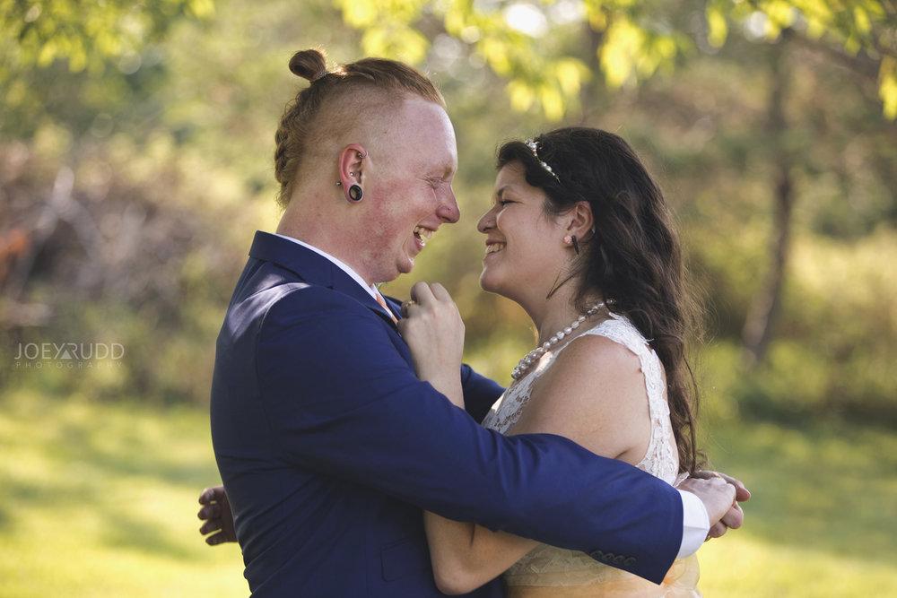 Backyard Kingston Wedding by Ottawa Wedding Photographer Joey Rudd Photography Happy Candid