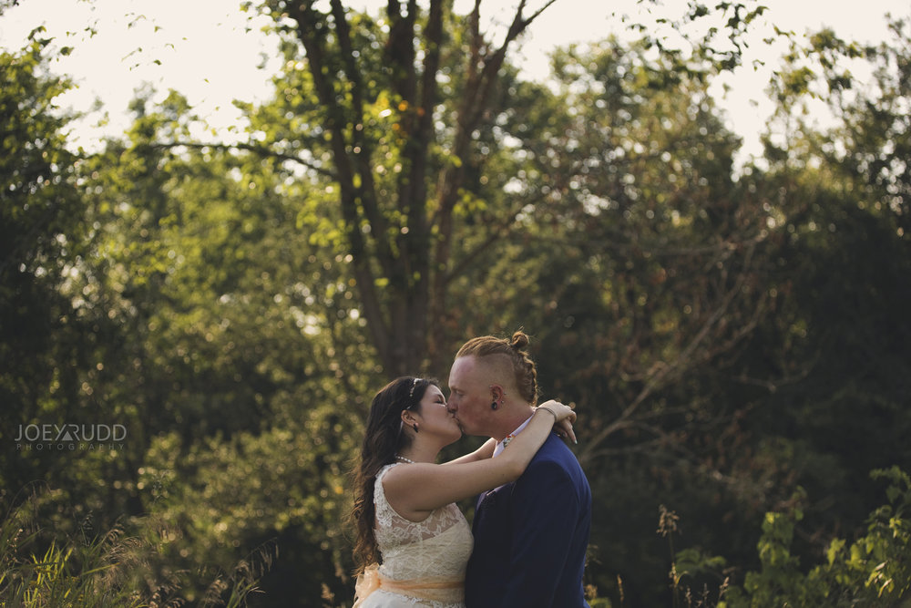 Backyard Kingston Wedding by Ottawa Wedding Photographer Joey Rudd Photography Interesting Pose