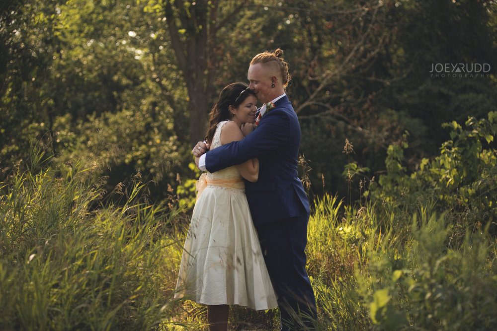 Backyard Kingston Wedding by Ottawa Wedding Photographer Joey Rudd Photography Hug
