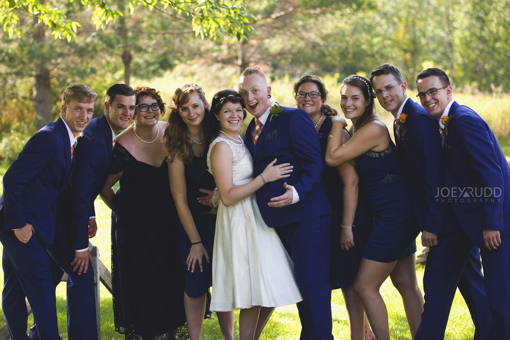 Backyard Kingston Wedding by Ottawa Wedding Photographer Joey Rudd Photography Wun Wedding Party Picture