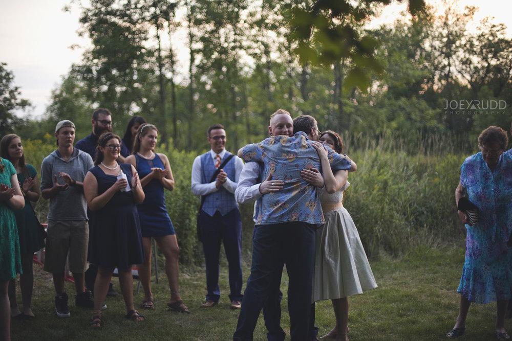 Backyard Kingston Wedding by Ottawa Wedding Photographer Joey Rudd Photography Speeches