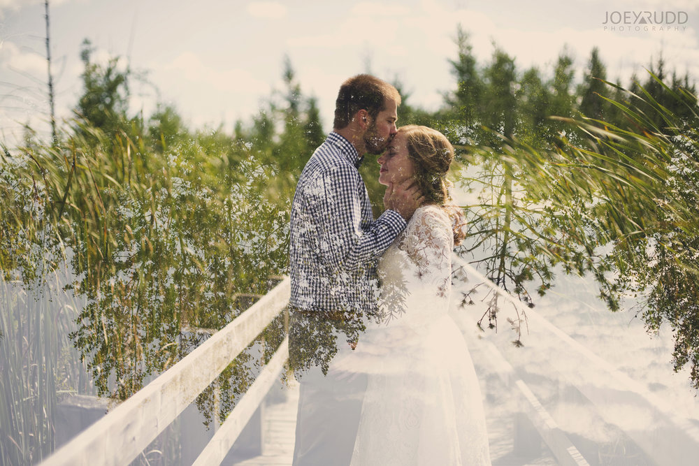 Ottawa Elopement by Joey Rudd Photography Ottawa Wedding Photographer Mer Bleue Ottawa Wedding Chapel Double Exposure Multiple Exposure Creative