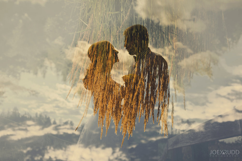 Ottawa Elopement by Joey Rudd Photography Ottawa Wedding Photographer Mer Bleue Ottawa Wedding Chapel Double Exposure Multiple Interesting Photo