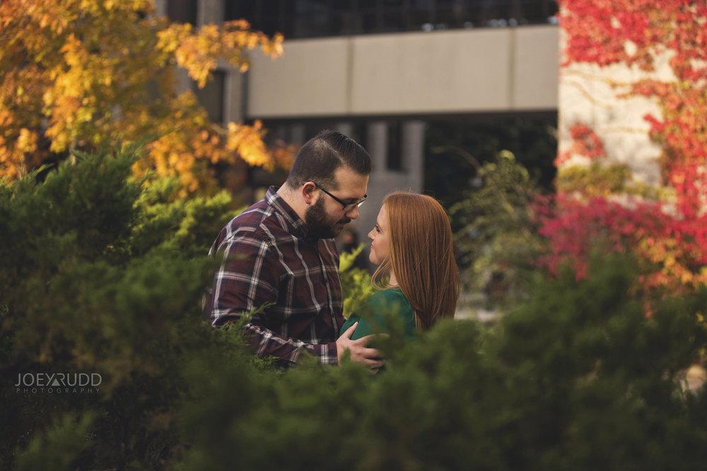 University of Ottawa Engagement by Ottawa Wedding Photographer Joey Rudd Photography Fall Bushes
