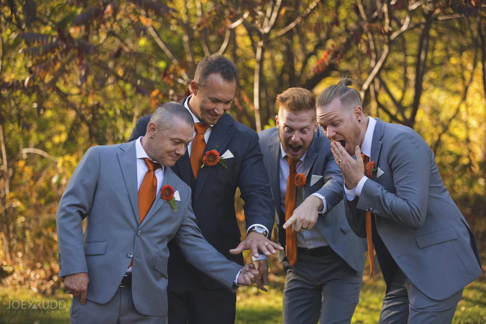 Ottawa Fall Wedding by Wedding Photographer Joey Rudd Photography Wedding Party Groomsmen