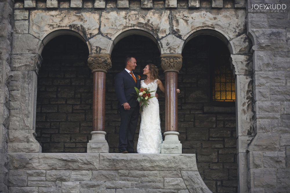 Ottawa Fall Wedding by Wedding Photographer Joey Rudd Photography Castle Bride and Groom Church