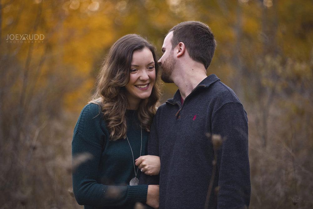 Brockville Engagement Photos by Ottawa Wedding Photographer Joey Rudd Photography Fall Snuggle Pose