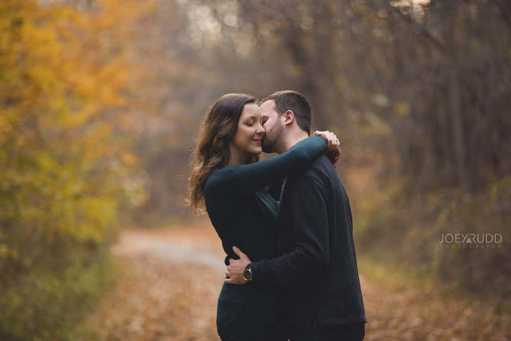 Brockville Engagement Photos by Ottawa Wedding Photographer Joey Rudd Photography Fall Trail
