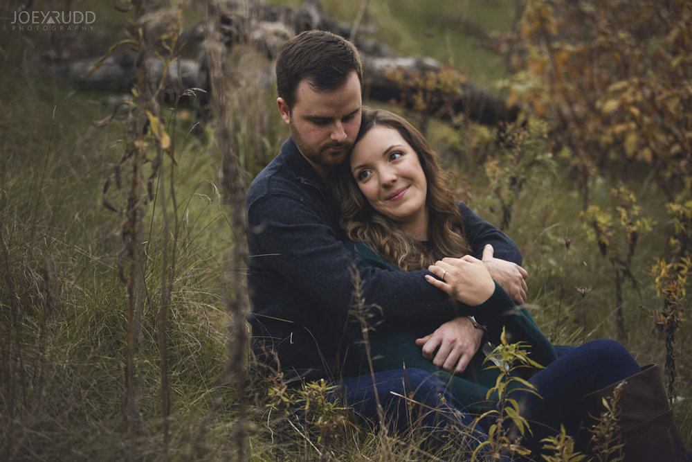 Brockville Engagement Photos by Ottawa Wedding Photographer Joey Rudd Photography Sitting in Field