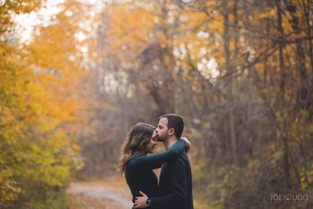 Brockville Engagement Photos by Ottawa Wedding Photographer Joey Rudd Photography Autumn Trail