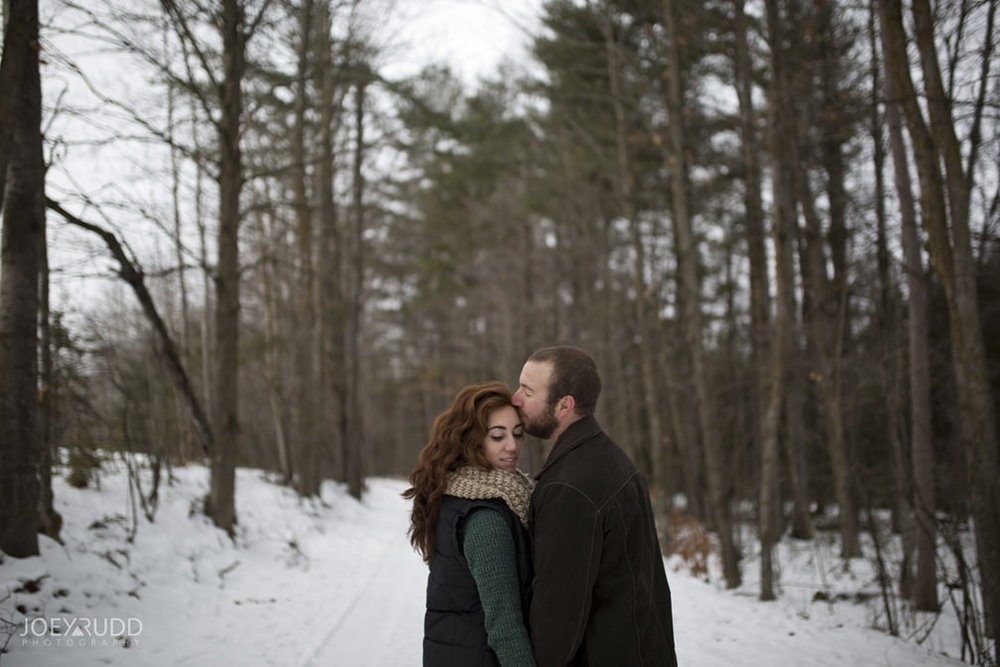 Almonte Engagement at the Mill of Kintail by Ottawa Wedding Photographer Joey Rudd Photography Winter Photos Path