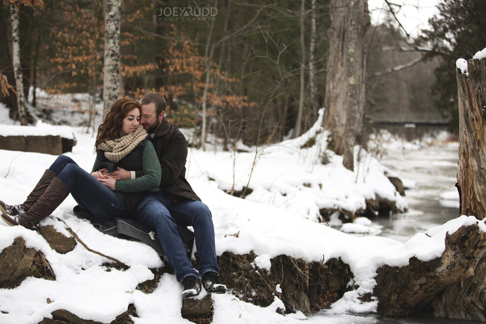 Almonte Engagement at the Mill of Kintail by Ottawa Wedding Photographer Joey Rudd Photography Winter Photos Lifestyle