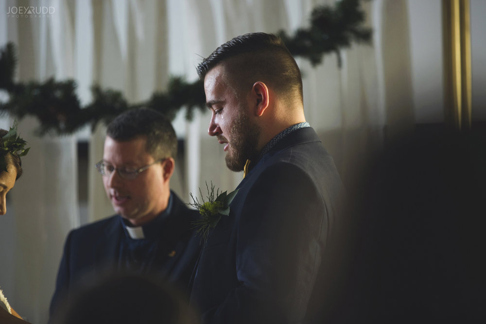 Ottawa winter wedding by ottawa wedding photographer Joey Rudd Photography Groom Emotion Tears